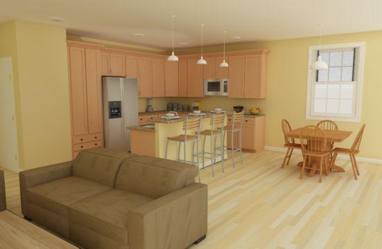 Cape cod model kitchen
