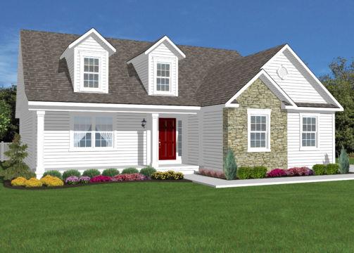 Cape cod model home