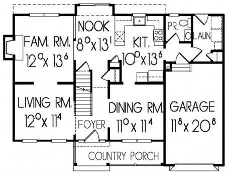Freemont first floor plan