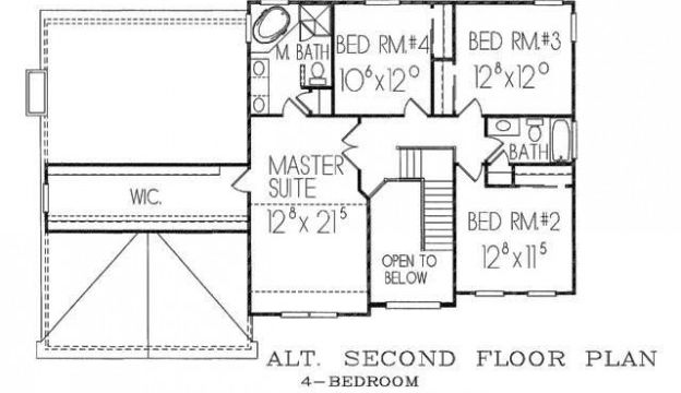Princeton 2nd floor plan alt