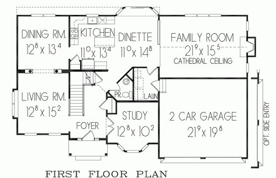 Princeton model first floor plan