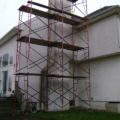 house before stucco removed