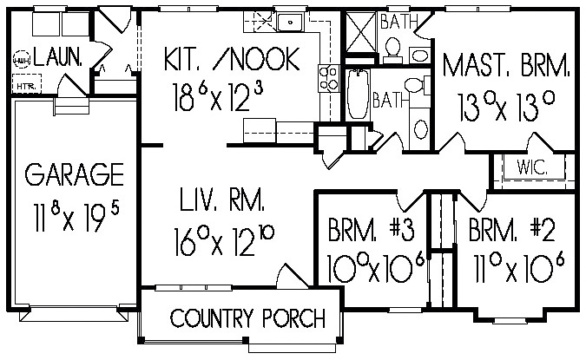 Franklin model floor plan