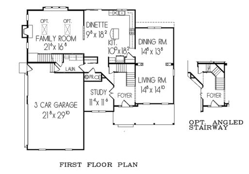 Stonebrooke 1st floor plan