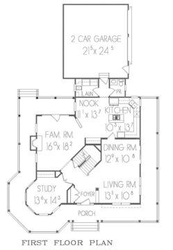 Victorian 1st floor plan