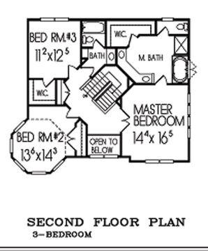Victorian 2nd floor plan